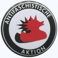 """Zum 25mm Button """"Antifaschistische Aktion (Enten)"""" für 0,80 € gehen."""