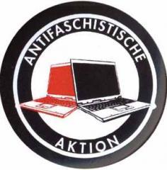 """Zum 25mm Button """"Antifaschistische Aktion (Notebooks)"""" für 1,00 € gehen."""