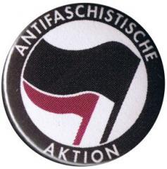 """Zum 25mm Button """"Antifaschistische Aktion (schwarz/lila)"""" für 0,70 € gehen."""
