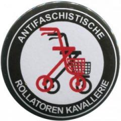 """Zum 25mm Button """"Antifaschistische Rollatoren Kavallerie"""" für 0,80 € gehen."""