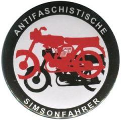"""Zum 25mm Button """"Antifaschistische Simsonfahrer"""" für 1,00 € gehen."""
