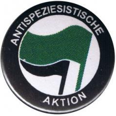 """Zum 25mm Button """"Antispeziesistische Aktion (grün/schwarz)"""" für 0,80 € gehen."""