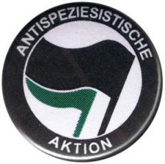 """Zum 25mm Button """"Antispeziesistische Aktion (schwarz/grün)"""" für 0,78 € gehen."""