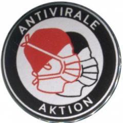"""Zum 25mm Button """"Antivirale Aktion - Mundmasken"""" für 0,80 € gehen."""