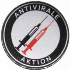"""Zum 25mm Button """"Antivirale Aktion - Spritzen"""" für 0,80 € gehen."""