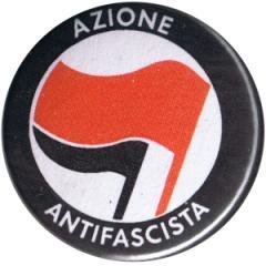 """Zum 25mm Button """"Azione Antifascista (rot/schwarz)"""" für 0,80 € gehen."""