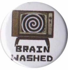 """Zum 25mm Button """"Brain washed"""" für 0,80 € gehen."""