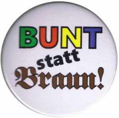 """Zum 25mm Button """"Bunt statt braun"""" für 0,78 € gehen."""