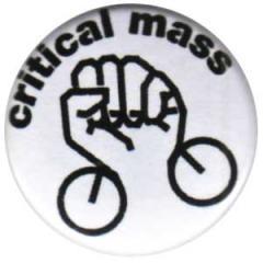 """Zum 25mm Button """"Critical Mass"""" für 0,80 € gehen."""