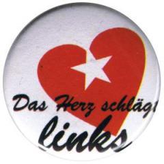 """Zum 25mm Button """"Das Herz schlägt links"""" für 0,80 € gehen."""