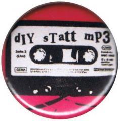 """Zum 25mm Button """"diy statt mp3"""" für 0,80 € gehen."""