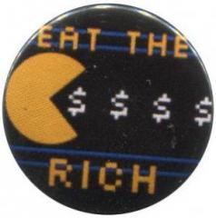 """Zum 25mm Button """"eat the rich"""" für 0,80 € gehen."""