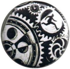"""Zum 25mm Button """"Eric Drooker: Zahnräder"""" für 0,78 € gehen."""