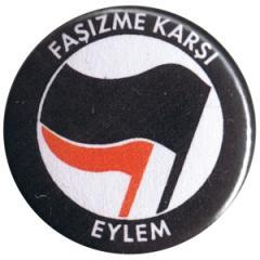 """Zum 25mm Button """"Fasizme Karsi Eylem (schwarz/rot)"""" für 0,80 € gehen."""