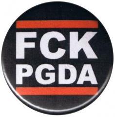 """Zum 25mm Button """"FCK PGDA"""" für 0,80 € gehen."""