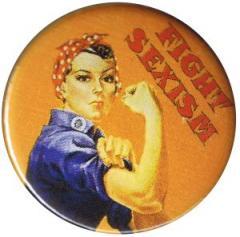 """Zum 25mm Button """"Fight sexism"""" für 0,80 € gehen."""