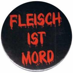 """Zum 25mm Button """"Fleisch ist Mord"""" für 0,78 € gehen."""
