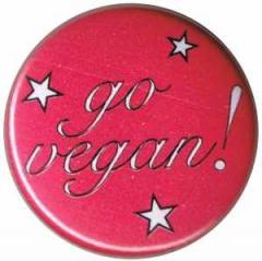 """Zum 25mm Button """"Go Vegan! pink stars"""" für 0,90 € gehen."""