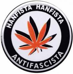 """Zum 25mm Button """"Hanfista Hanfista Antifascista"""" für 0,70 € gehen."""
