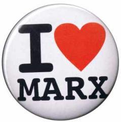 """Zum 25mm Button """"I love Marx"""" für 0,80 € gehen."""