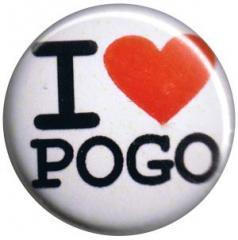 """Zum 25mm Button """"I love Pogo"""" für 0,80 € gehen."""