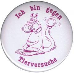 """Zum 25mm Button """"Ich bin gegen Tierversuche"""" für 0,80 € gehen."""