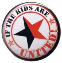 """Zum 25mm Button """"If the kids are united (schwarz/roter Stern)"""" für 0,78 € gehen."""
