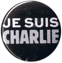 """Zum 25mm Button """"Je suis Charlie"""" für 0,80 € gehen."""