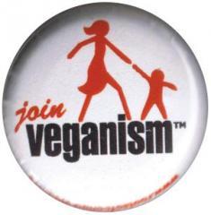 """Zum 25mm Button """"Join Veganism"""" für 0,88 € gehen."""