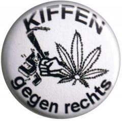"""Zum 25mm Button """"Kiffen gegen Rechts"""" für 0,80 € gehen."""