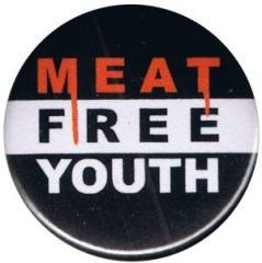 """Zum 25mm Button """"Meat Free Youth"""" für 0,80 € gehen."""