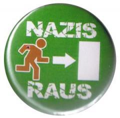"""Zum 25mm Button """"Nazis raus"""" für 0,80 € gehen."""