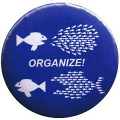 """Zum 25mm Button """"Organize! Fische"""" für 0,80 € gehen."""