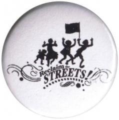 """Zum 25mm Button """"Reclaim the Streets"""" für 0,80 € gehen."""