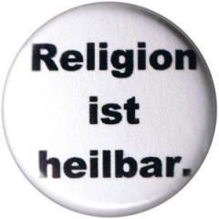 """Zum 25mm Button """"Religion ist heilbar."""" für 0,80 € gehen."""