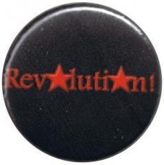 """Zum 25mm Button """"Revolution! (schwarz)"""" für 0,80 € gehen."""