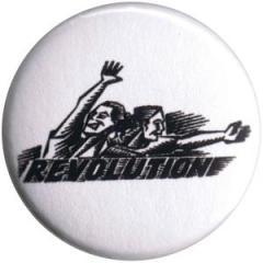 """Zum 25mm Button """"Revolution"""" für 0,80 € gehen."""