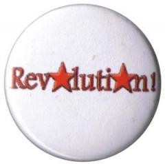 """Zum 25mm Button """"Revolution!"""" für 0,80 € gehen."""