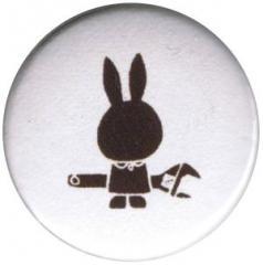 """Zum 25mm Button """"Sabotage Hase"""" für 0,78 € gehen."""