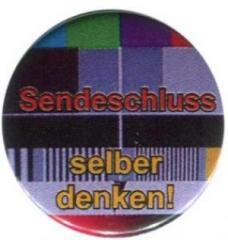 """Zum 25mm Button """"Sendeschluss"""" für 0,80 € gehen."""