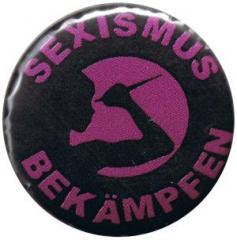 """Zum 25mm Button """"Sexismus bekämpfen"""" für 0,80 € gehen."""