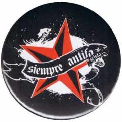 """Zum 25mm Button """"Siempre Antifascista"""" für 0,80 € gehen."""