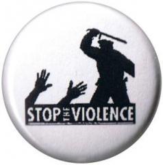 """Zum 25mm Button """"Stop the violence"""" für 0,80 € gehen."""