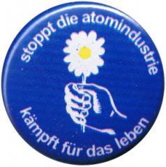 """Zum 25mm Button """"Stoppt die Atomindustrie"""" für 0,78 € gehen."""