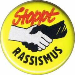 """Zum 25mm Button """"Stoppt Rassismus"""" für 0,78 € gehen."""