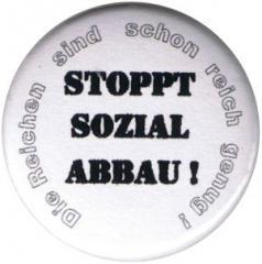 """Zum 25mm Button """"Stoppt Sozialabbau"""" für 0,80 € gehen."""