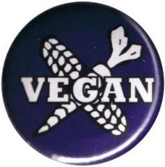 """Zum 25mm Button """"Vegan Cross"""" für 0,90 € gehen."""