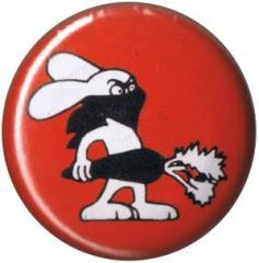 """Zum 25mm Button """"Vegan Rabbit - Red"""" für 0,80 € gehen."""