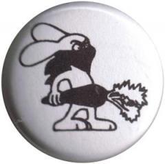 """Zum 25mm Button """"Vegan Rabbit - White"""" für 0,78 € gehen."""