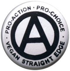"""Zum 25mm Button """"Vegan Straight Edge"""" für 0,90 € gehen."""